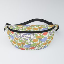 Birds and Wild Blooms Fanny Pack