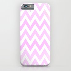 Pale Pink textured Chevron Pattern Slim Case iPhone 6s
