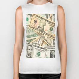 dollar bills Biker Tank