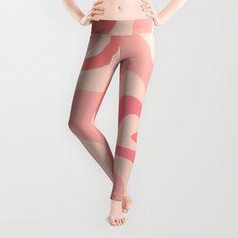 Liquid Swirl Abstract in Soft Pink Leggings