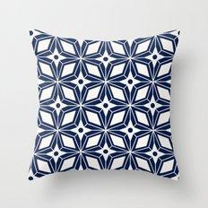 Starburst - Navy Throw Pillow