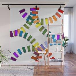 Colorful interlocking block pattern Wall Mural