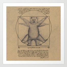 The Vitruvian Bear Art Print
