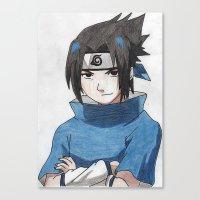 sasuke Canvas Prints featuring Uchiha Sasuke by Jetachi