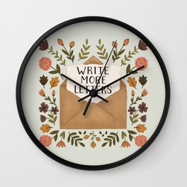 Write More Letters Wall Clock