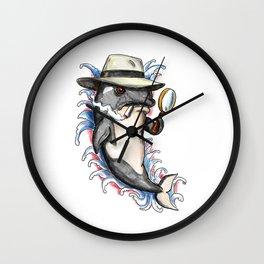Orca Killer Whale Detective Tattoo Wall Clock
