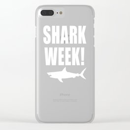 Shark week (on black) Clear iPhone Case