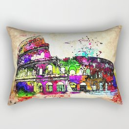 Colosseo Grunge Rectangular Pillow
