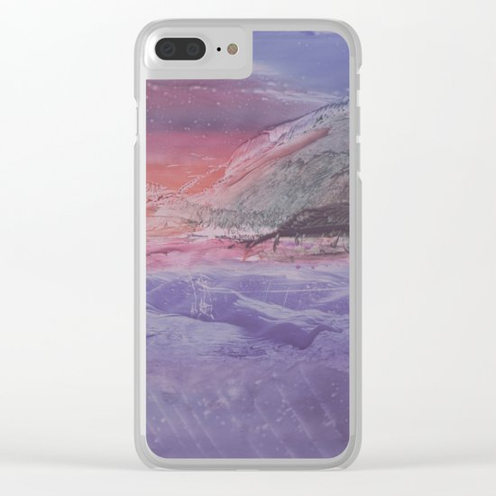 abstract composition with sunset Clear iPhone Case