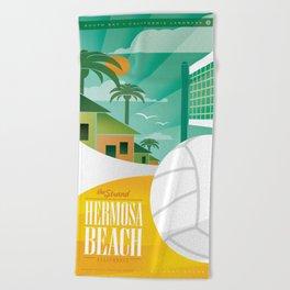 Hermosa Beach California Beach Towel