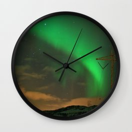 Northern Lights over Norway: Part 2 Wall Clock