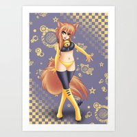 kiki Art Prints featuring Kiki by HaruShadows