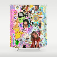 90s Shower Curtains featuring 90s, childhood. by eriicms