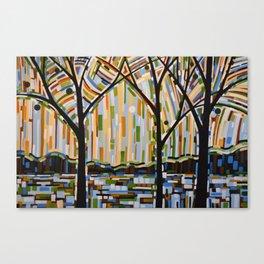 Abstract Art Landscape Original Painting ... Enchanted Nights Canvas Print