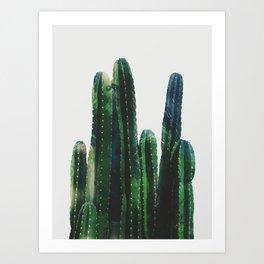 vertical watercolor cactus Art Print