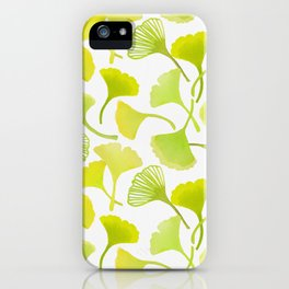 First Day of Autumn Ginkgo Leaves iPhone Case