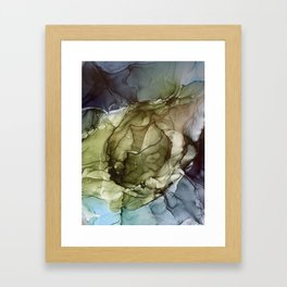 Calm Nature- Earth Inspired Abstract Painting Framed Art Print