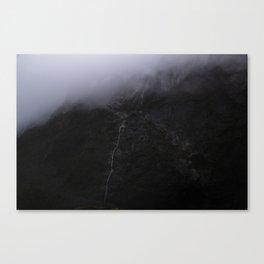 Mountain Series - Milford Sound Waterfall Canvas Print