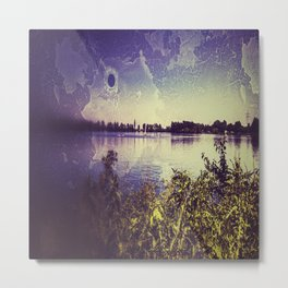 Surf lake Laupheim Metal Print