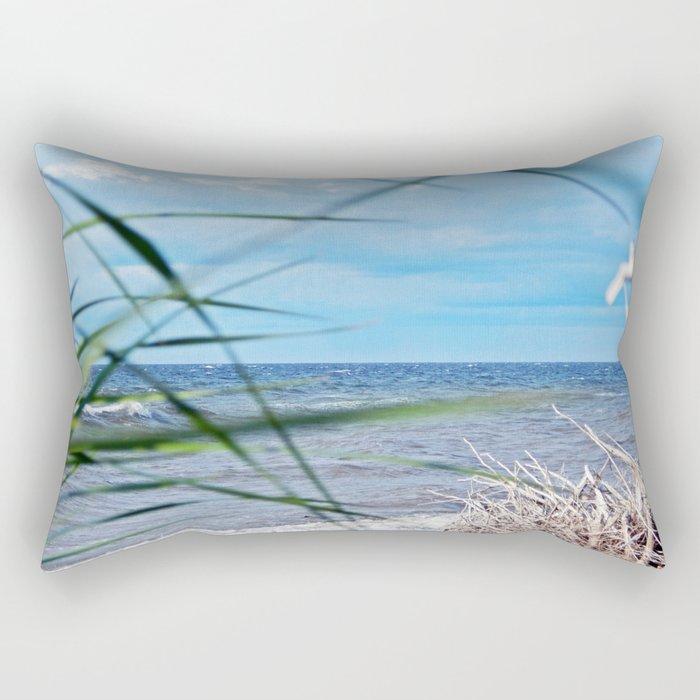 Secluded Beach Rectangular Pillow