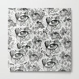 KEIM EYEZ ILLUSTRATION PRINT Metal Print