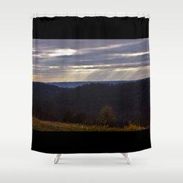 Hazy Outlook Shower Curtain