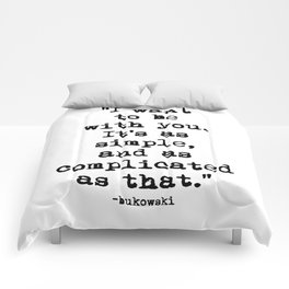 Charles Bukowski Typewriter Quote With You Comforters