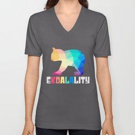 Ekoalality | Koala Koalas Rainbow LGBTQ Equality Unisex V-Neck