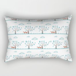 Blue Fox Rectangular Pillow