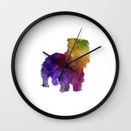 Irish Glen of Imaal Terrier in watercolor Wall Clock