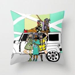 Road Trip Throw Pillow