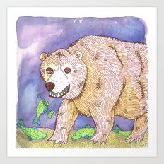 Hungry Bear Art Print