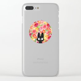 Jiji in Bloom Clear iPhone Case