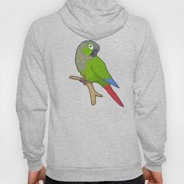 Pixel / 8-bit Parrot: Green-cheek Conure Hoody