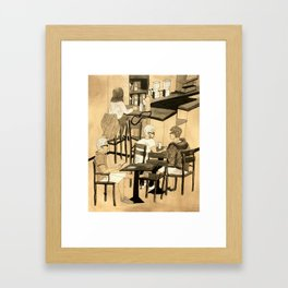 Coffee Shop Framed Art Print