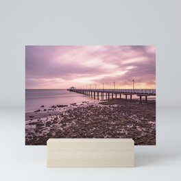 Shorncliffe pier during sunrise Mini Art Print