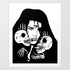 Lady Death Trip Art Print