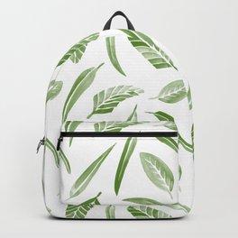 Leaf Pattern - Green Backpack