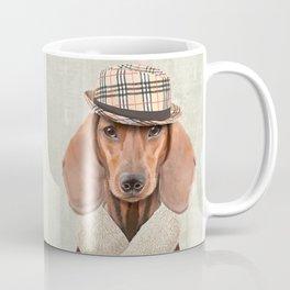 The stylish Mr Dachshund Coffee Mug