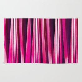 Burgundy Rose Stripy Lines Pattern Rug
