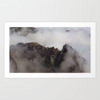 peru chmurki gory Art Print