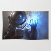 wizard Area & Throw Rugs featuring Astronaut Wizard by Jordan Grimmer
