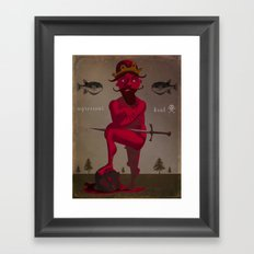 Naked King Framed Art Print