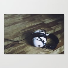 vintage headphone Canvas Print