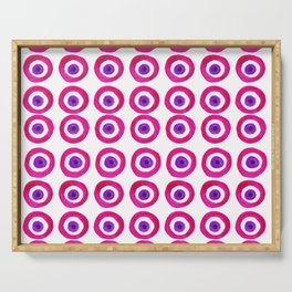 Evil Eye Amulet Talisman in Pink Serving Tray
