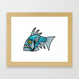 Escher Fish pattern I Framed Art Print