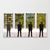 frames Canvas Prints featuring Frames by Monster Rally / Ted Feighan