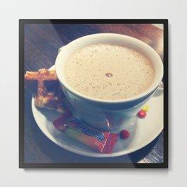 Café avec sucre Metal Print