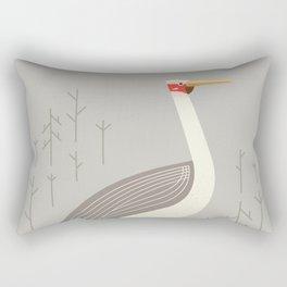 Brolga, Bird of Australia Rectangular Pillow
