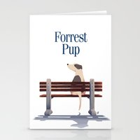 forrest gump Stationery Cards featuring Forrest Pup by oweeo